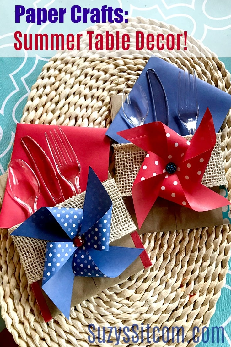 Paper Crafts: Summer Table Decor