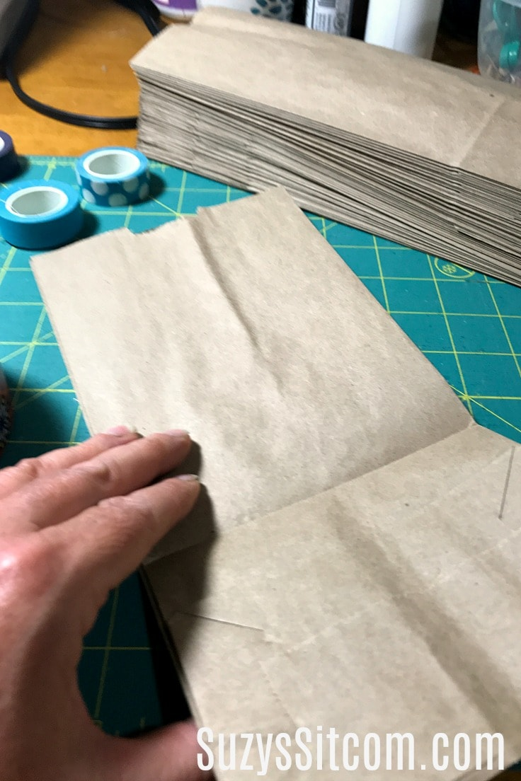 Folding a paper bag