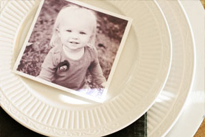 Photo place card by Craftivity Designs