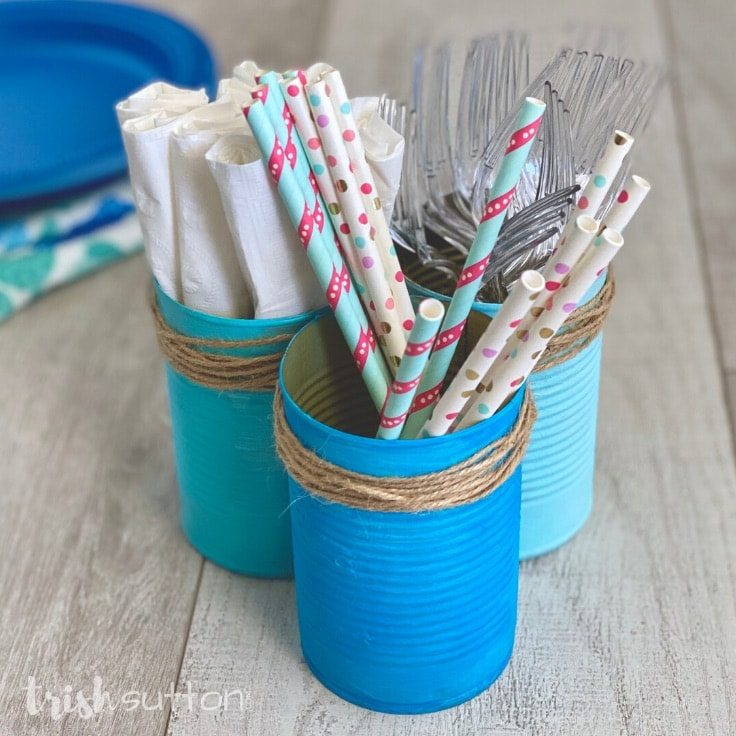 DIY Upcycled Can Picnic Caddy