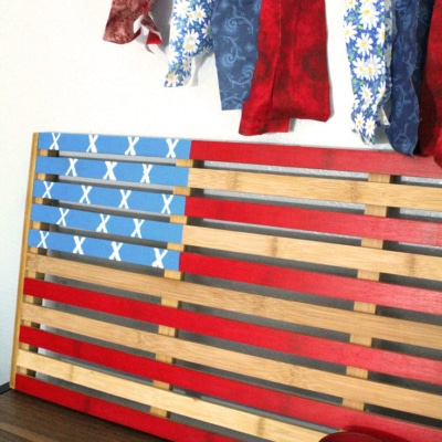 July 4th Decor: Painted American Flag