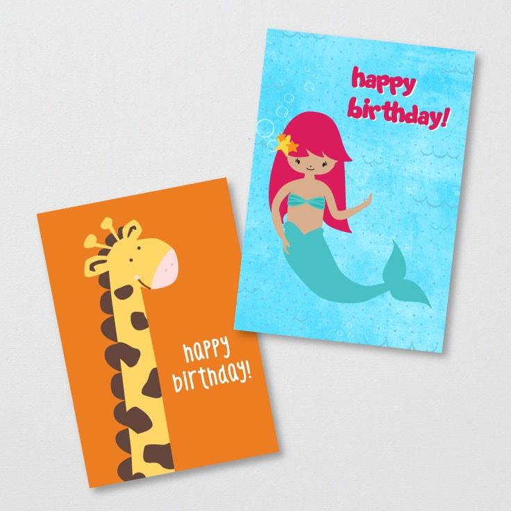 Free Printable Kids Birthday Cards