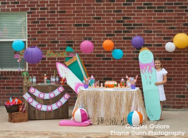 A retro surf party