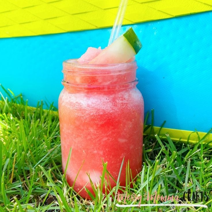 Our Watermelon Slush is a nice way to save the calories when you're wanting something like ice cream or a shake on a hot summer day. Easy to make and even yummier to drink.