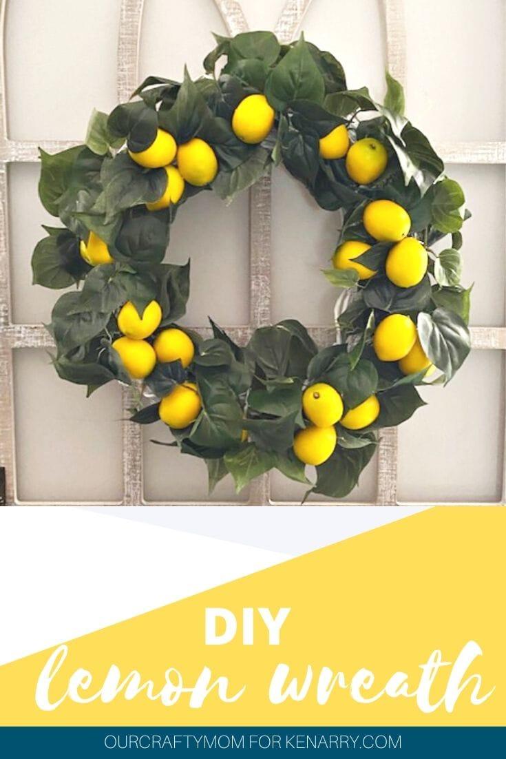 DIY lemon wreath pin image