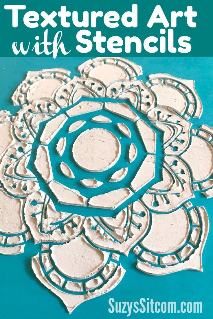 textured art with stencils