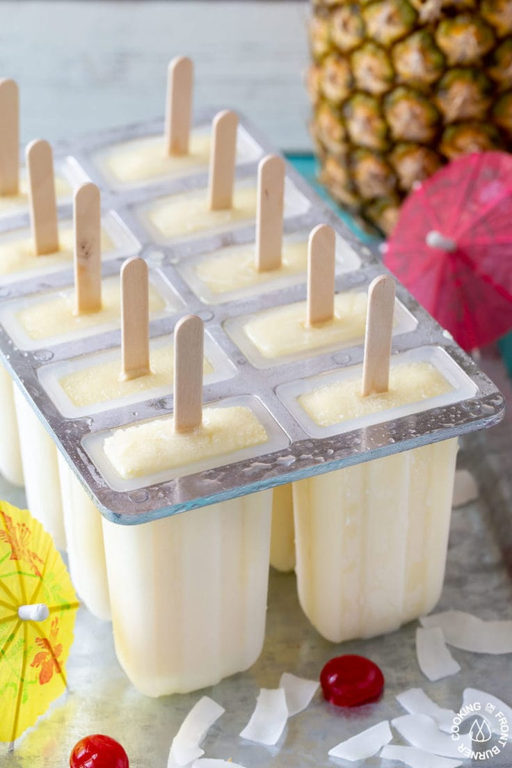 how to make piña colada pops