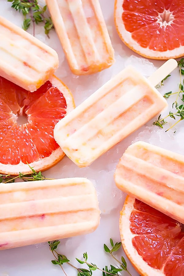 Grapefruit Peach popsicles