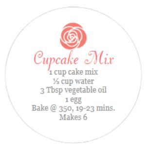 round cupcake mix label
