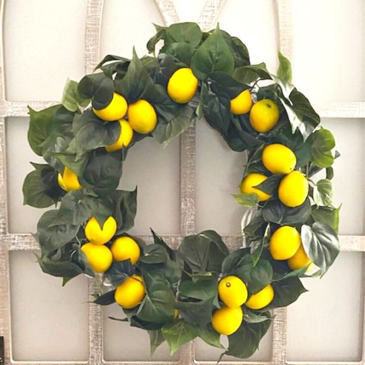 Make a Beautiful DIY Lemon Wreath for Your Home