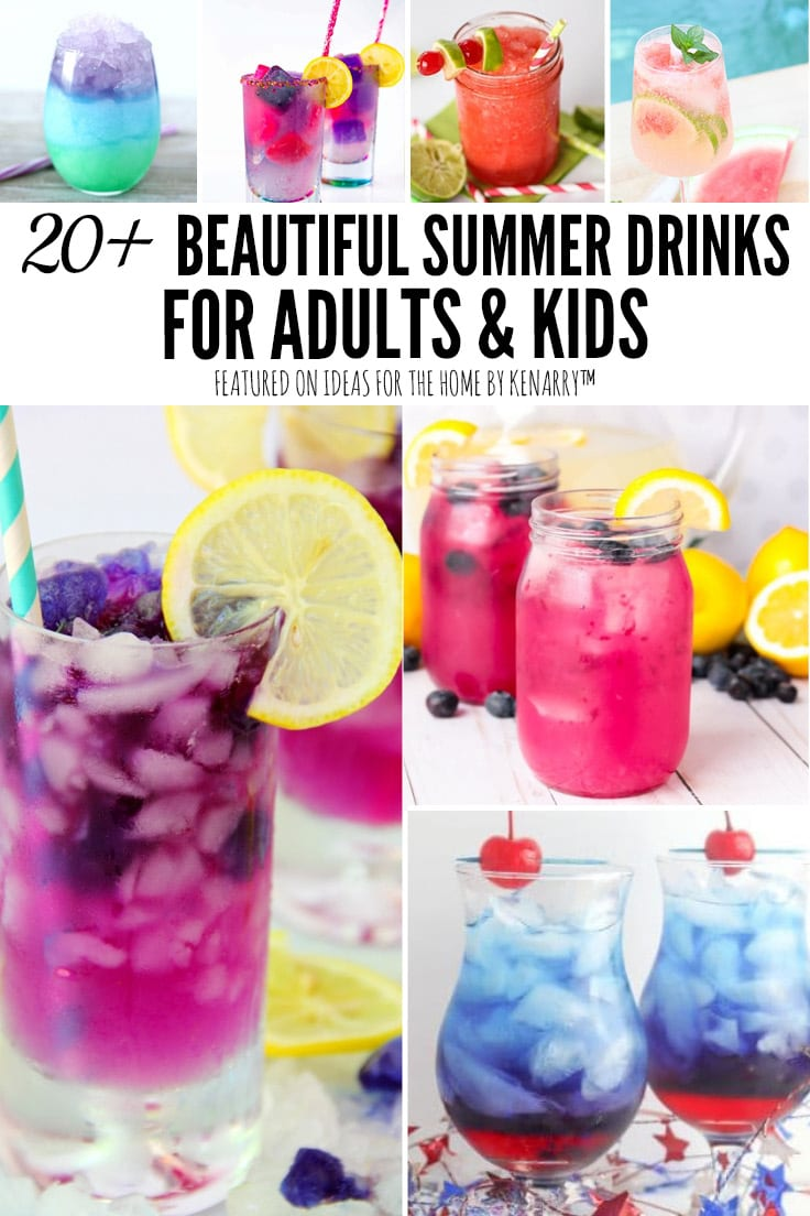 20+ Beautiful Summer Drinks for Adults and Kids