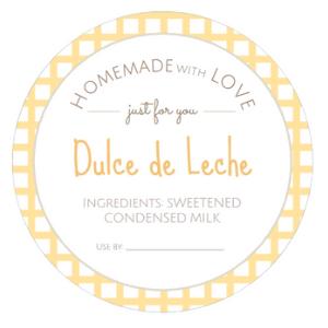round Dulce de Leche labels