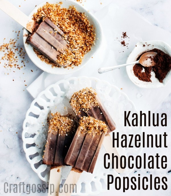 Kahlua Hazelnut popsicles