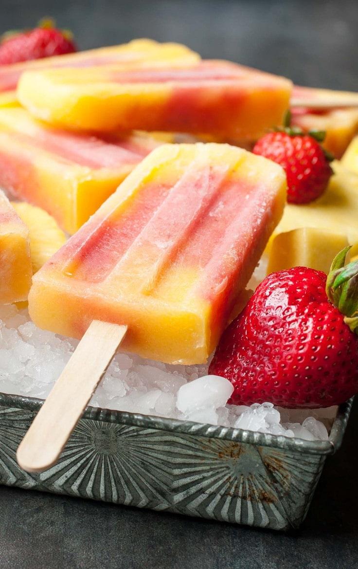 Strawberry pineapple pops