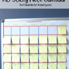 Washi Tape and Sticky Note DIY Calendar