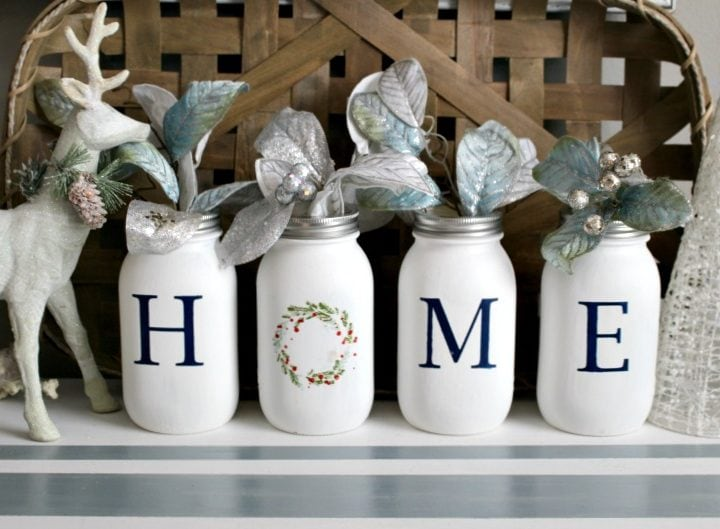 home mason jar centerpiece