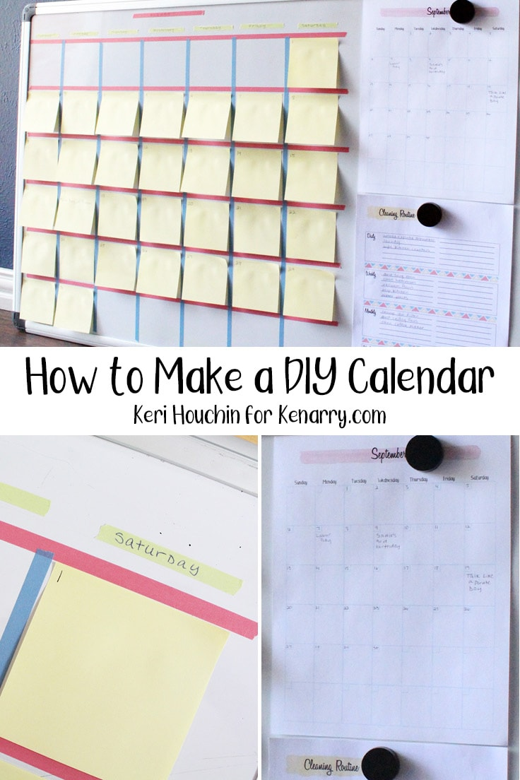 collage of DIY calendar photos showing different angles