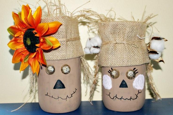 scarecrow mason jars