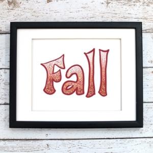 Fall Speckled Printable Art - Digital Print