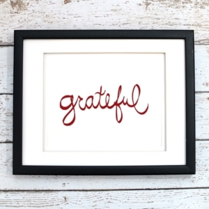 Grateful Printable Art - Digital Print