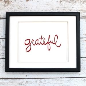 Grateful Printable Art - Digital Print