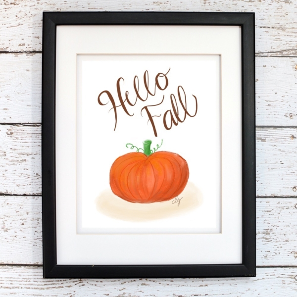 Hello Fall Printable Wall Art - Digital Print