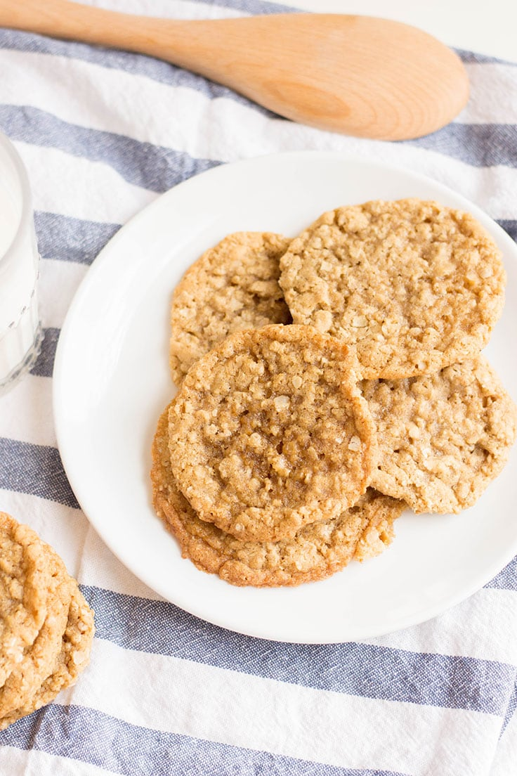 A plateful of the most delicious (and easiest) oatmeal cookies you'll ever bake.