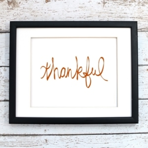 Thankful Printable Art - Digital Art