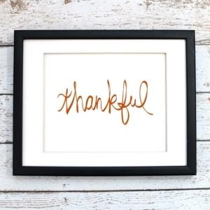 Thankful Printable Art - Digital Art
