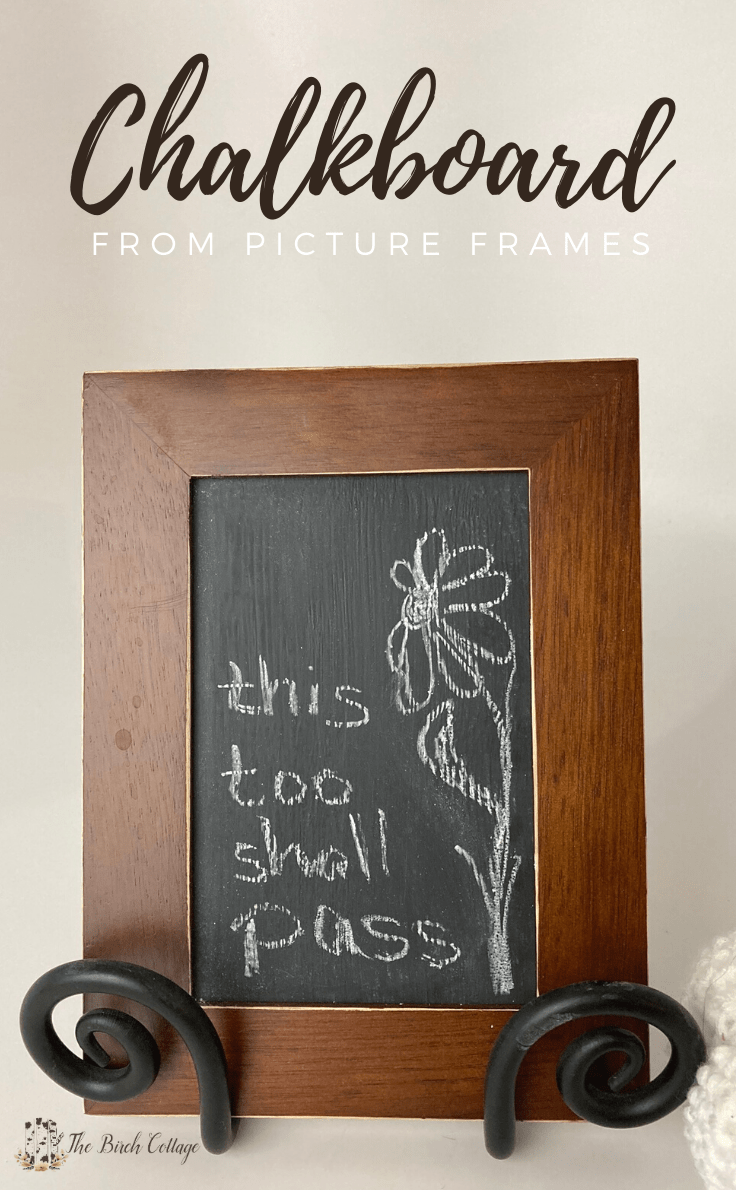 Chalkboard from Picture frames - how to make a framed chalkboard