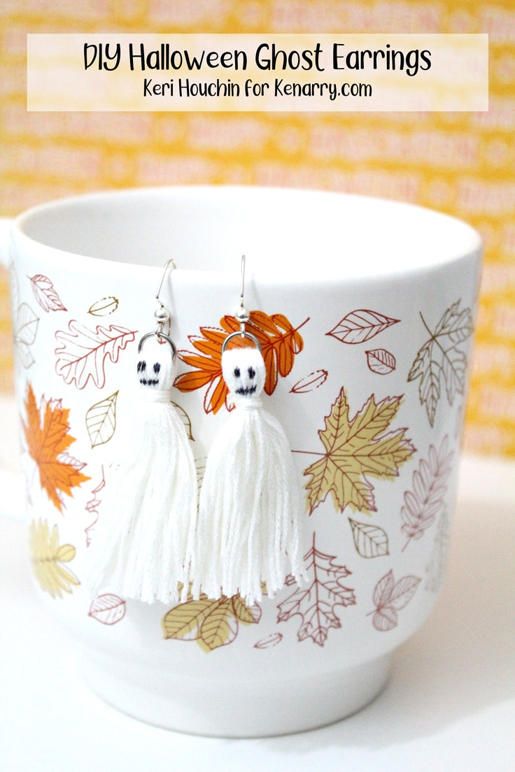 Diy Halloween Ghost Tassel Earrings Tutorial Ideas For The Home