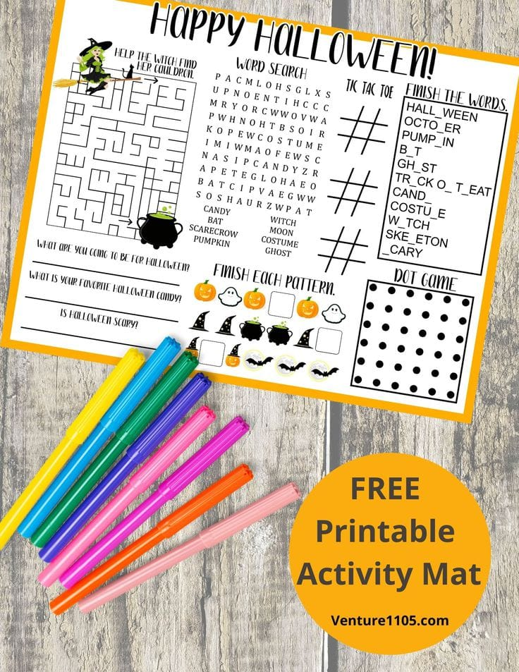 Free Printable Activity mat
