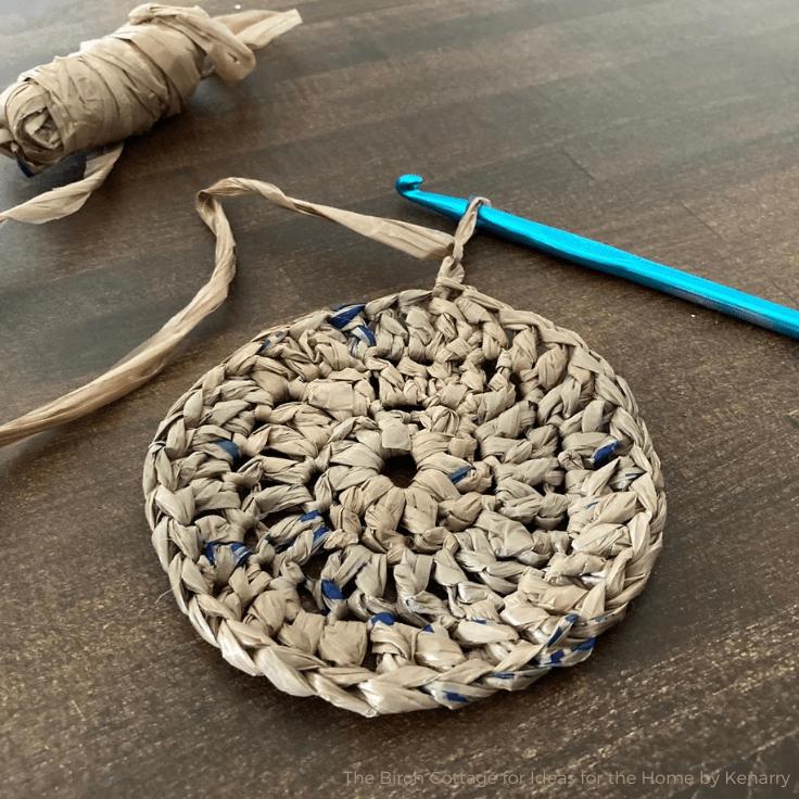 How to Make Plarn (Plastic Yarn) & an Easy Coaster Tutorial