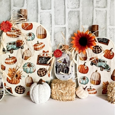 embroidery hoop fabric pumpkins