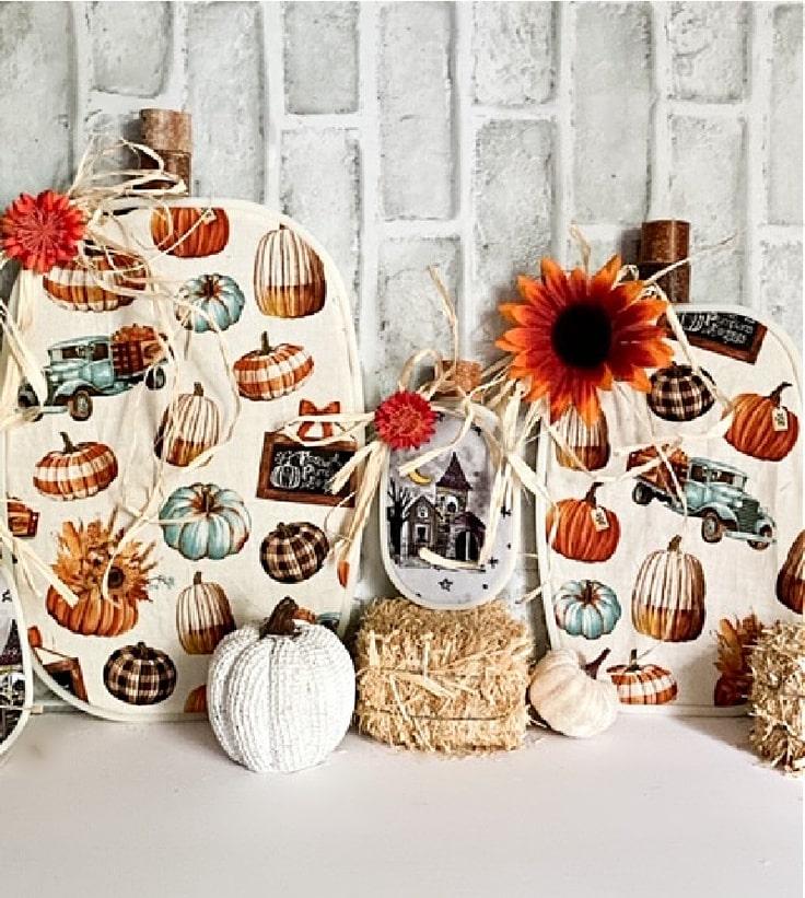 How To Make Adorable DIY Embroidery Hoop Pumpkins