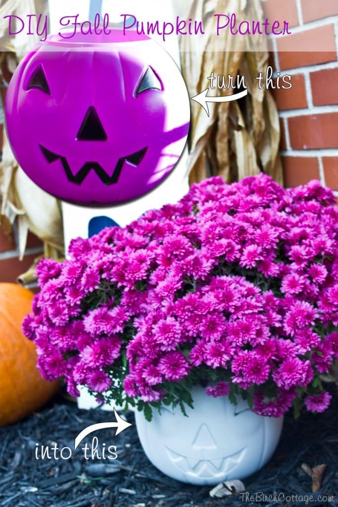 DIY Fall Pumpkin Planter