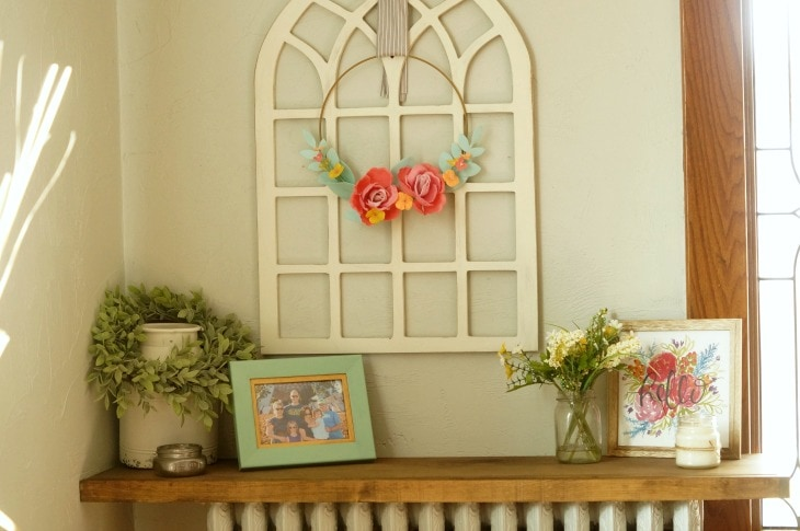 A foyer decorated for the summer