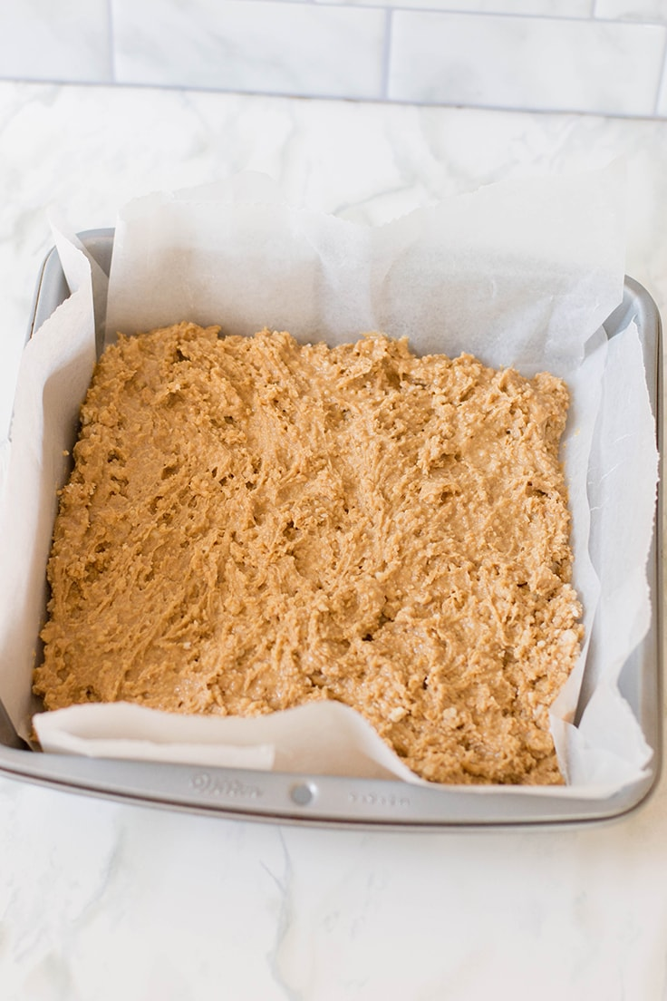 The base of my Peanut Butter Bars - so much peanut butter and so much deliciousness!