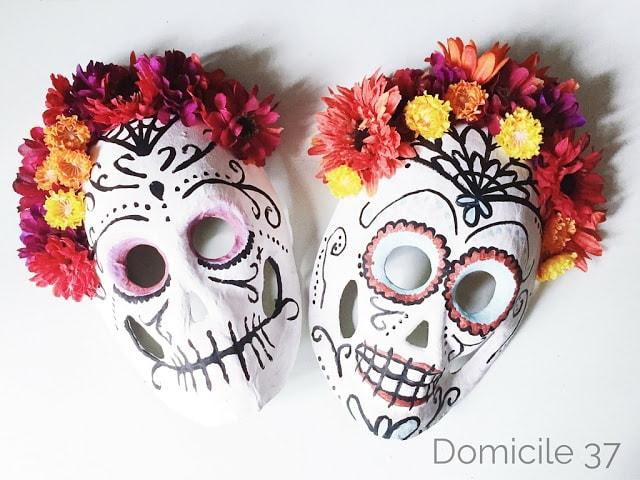 DIY Painted Sugar Skull Masks