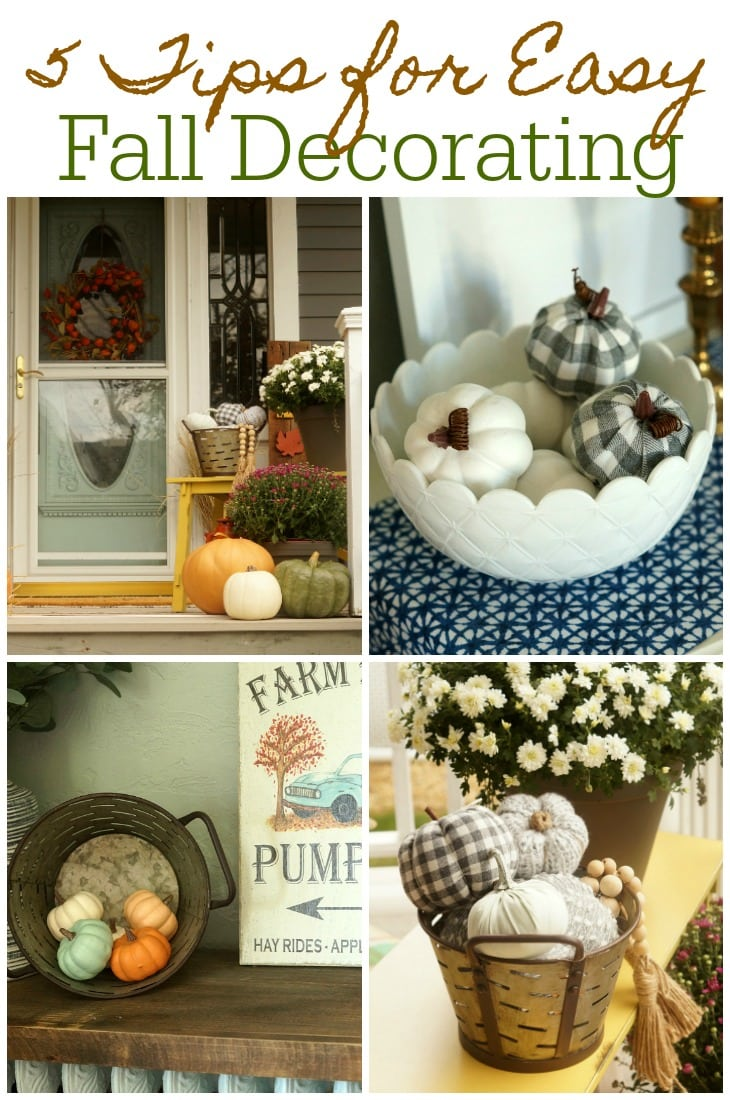 5 tips for easy fall decorating