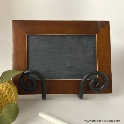 Create this DIY framed chalkboard from an old or thrifted picture frame to add warmth, charm and functionality to your home.