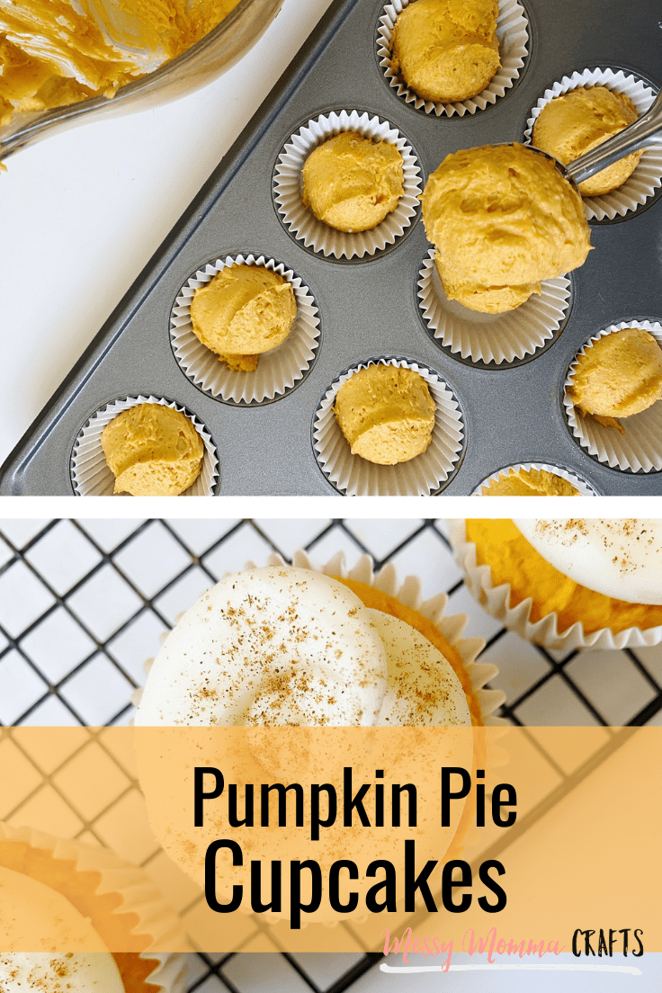 These Pumpkin Cupcakes - A Sweet Fall Treat are a great treat to have after dinner or to bring to your Thanksgiving festivities. Since they only require a few ingredients, they are also super easy to make.