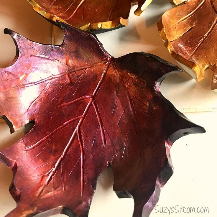 Easy to Make Fall Leaf Dish