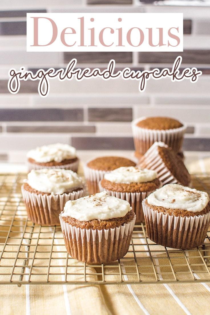 Delicious gingerbread cupcakes