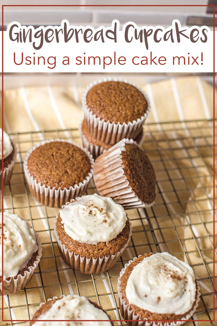 Gingerbread cupcakes using simple cake mix