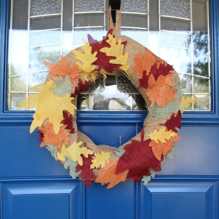 Fall burlap wreath from One Mama's Daily Drama