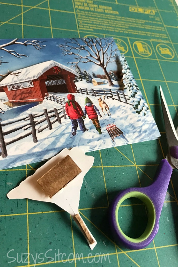 Cutting more parts of the scene to create a 3D layered paper art