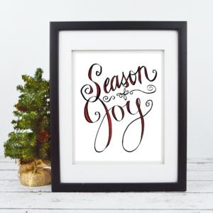 Season of Joy - Christmas Print - Digital Art