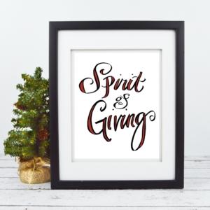Spirit of Giving - Christmas Print - Digital Art