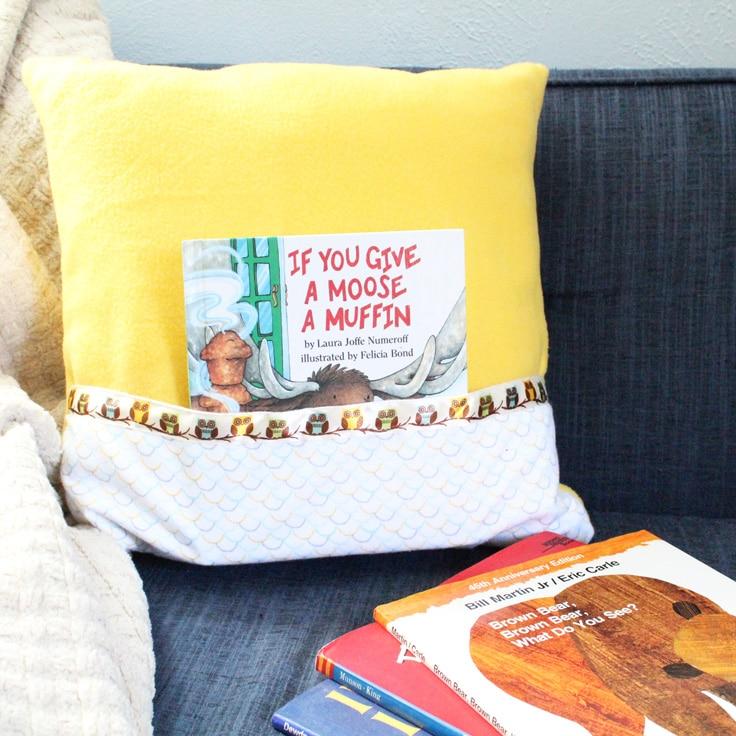 DIY Reading Pillow –  Kid's Book Handmade Gift Tutorial